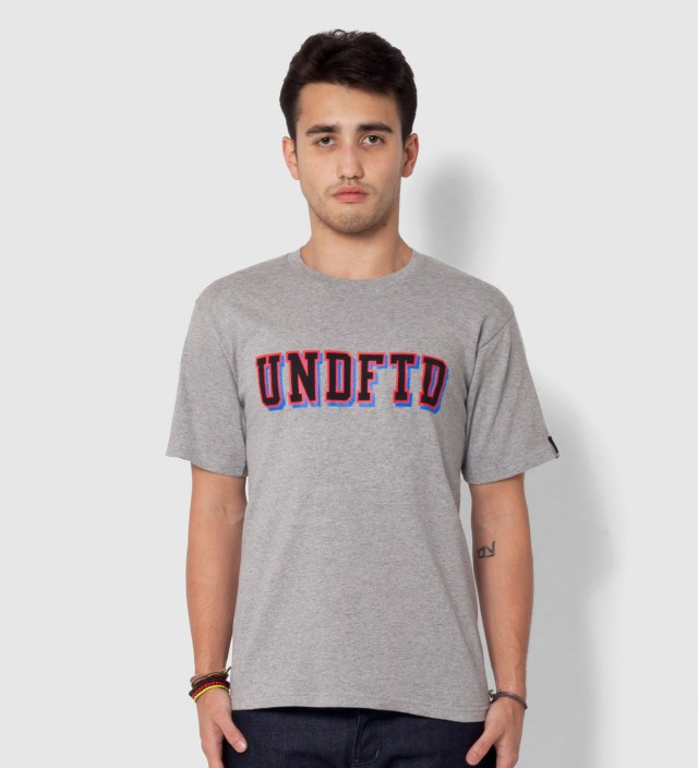 UNDEFEATED Heather Grey SS UNDFTD Block T-Shirt