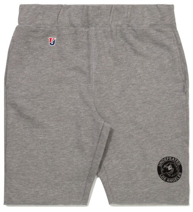 Undefeated Heather Grey Mascot Circle Shorts