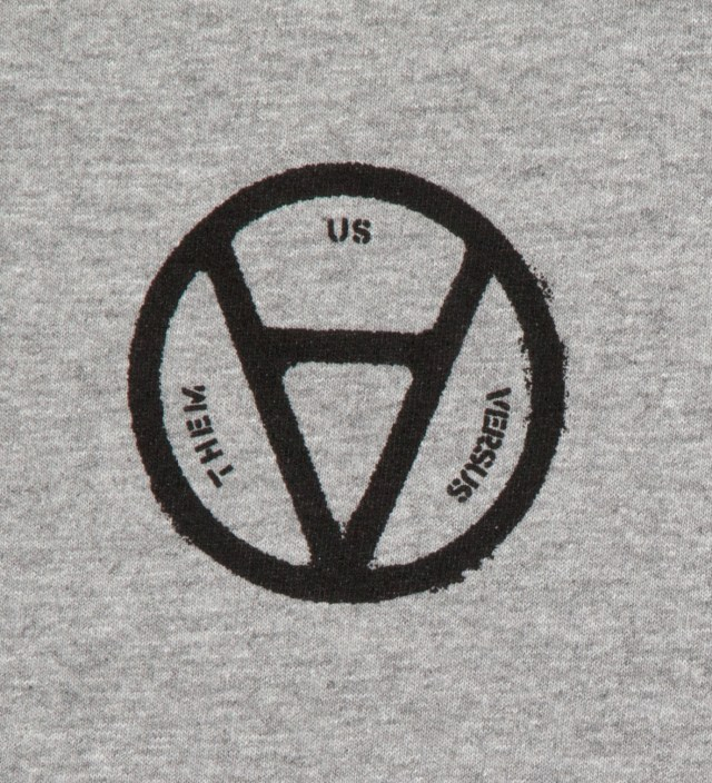 Us Versus Them Heather Grey V Anarchy T-Shirt