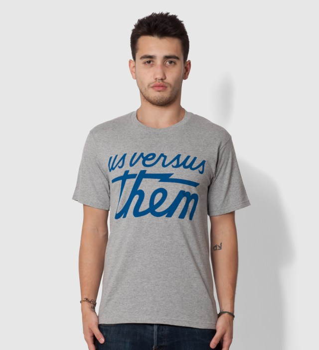 Us Versus Them Heather Grey Magnum Basic T-Shirt