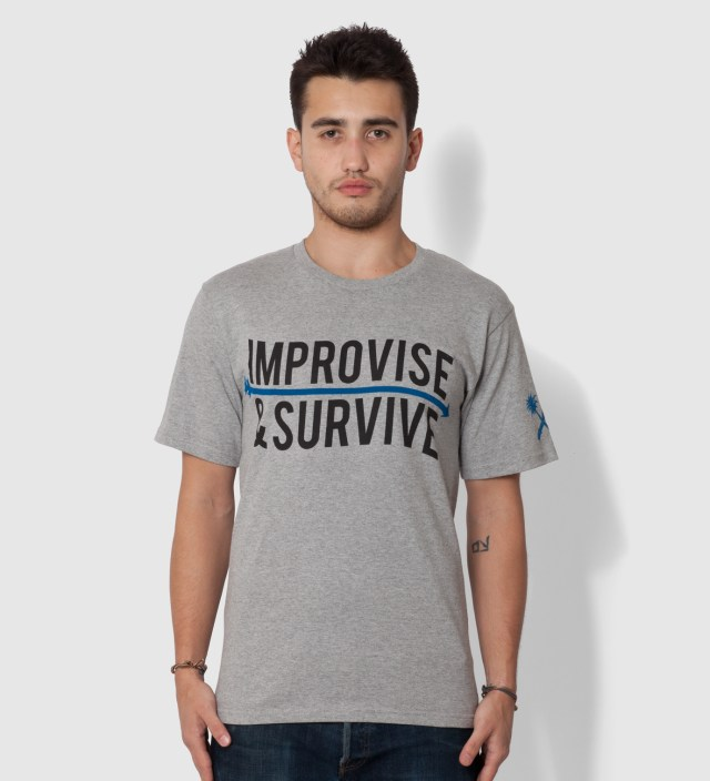 Us Versus Them Heather Grey Improvise Arrow T-Shirt