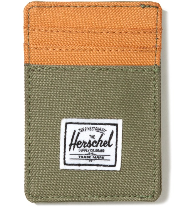 Herschel Supply Co. Olive Drab Raven Card Holder