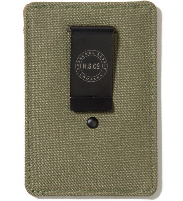 Herschel Supply Co. Olive Drab Raven Card Holder