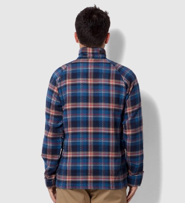 Head Porter Plus Blue Check Shirt Jacket