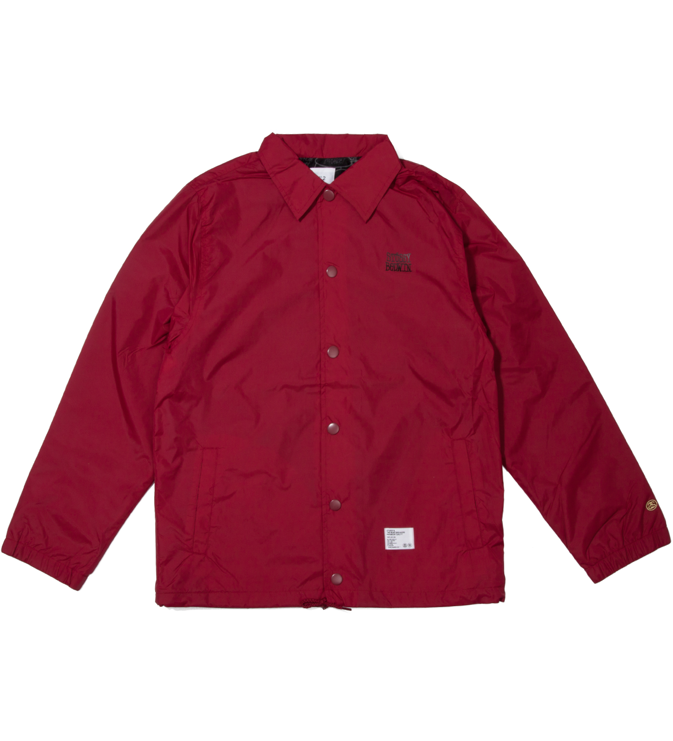 "BEDWIN & THE HEARTBREAKERS Burgundy ""Eric"" Coach Jacket"
