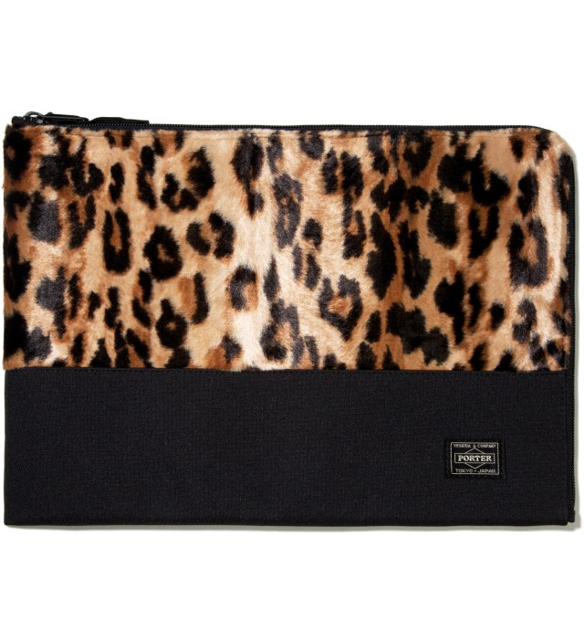 Head Porter Leopard Mombasa Document Case (L)