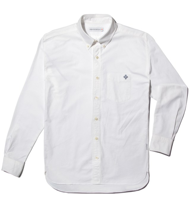Head Porter Plus White Ox-Cross Shirt