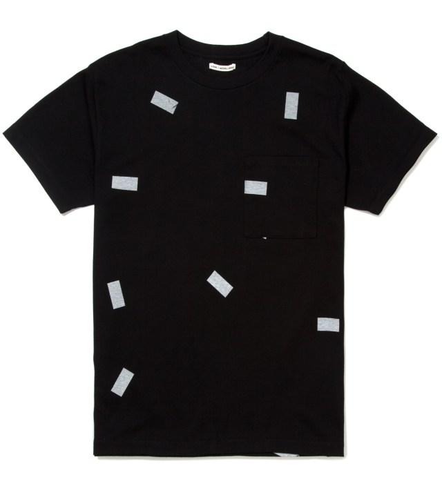 A.FOUR Black The Davinder Root Retro T-Shirt