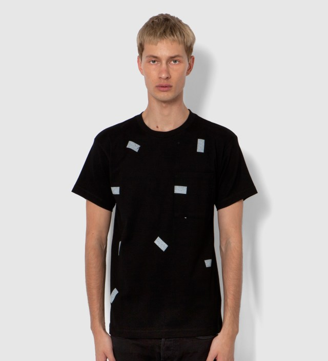 A.FOUR Black The Davinder Root Retro T-Shirt