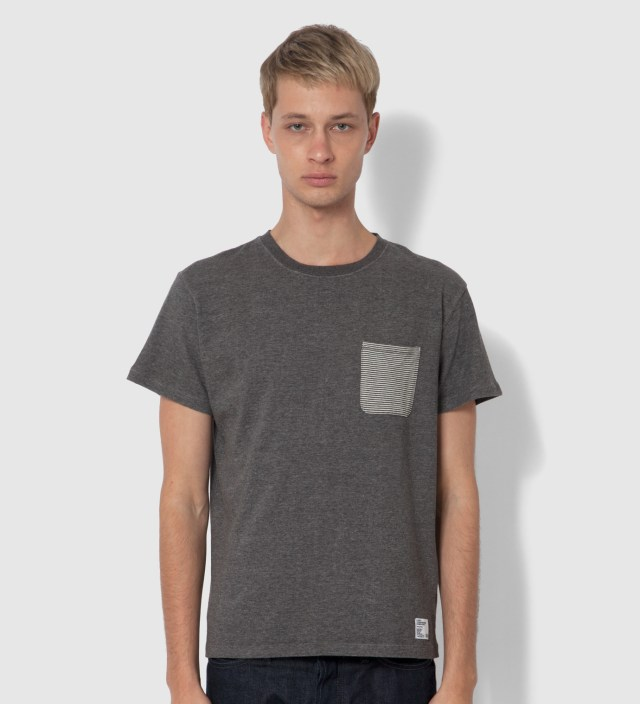 "BEDWIN & THE HEARTBREAKERS Stussy x The Heartbreakers Charcoal ""Lee"" Pocket T-Shirt"