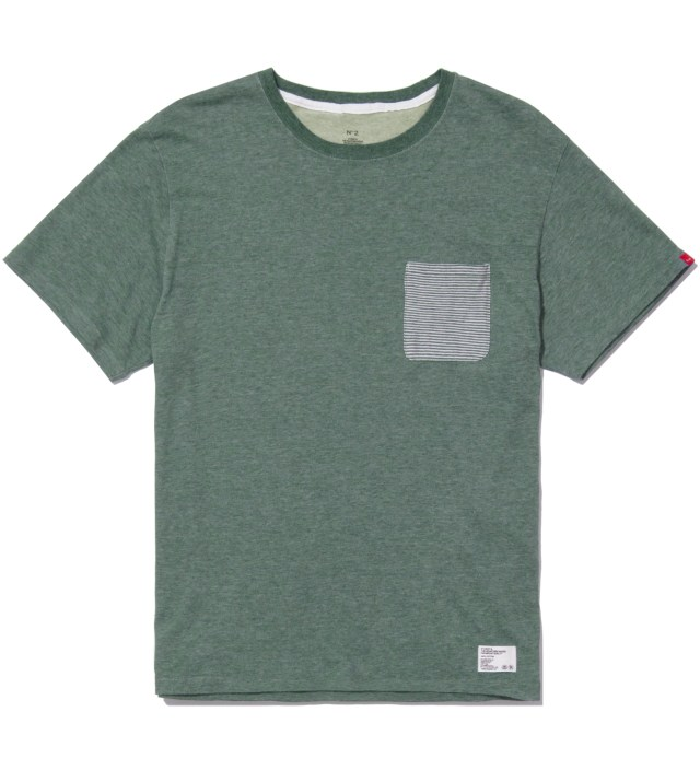 """BEDWIN & THE HEARTBREAKERS Stussy x The Heartbreakers Green """"Lee"""" Pocket T-Shirt"""