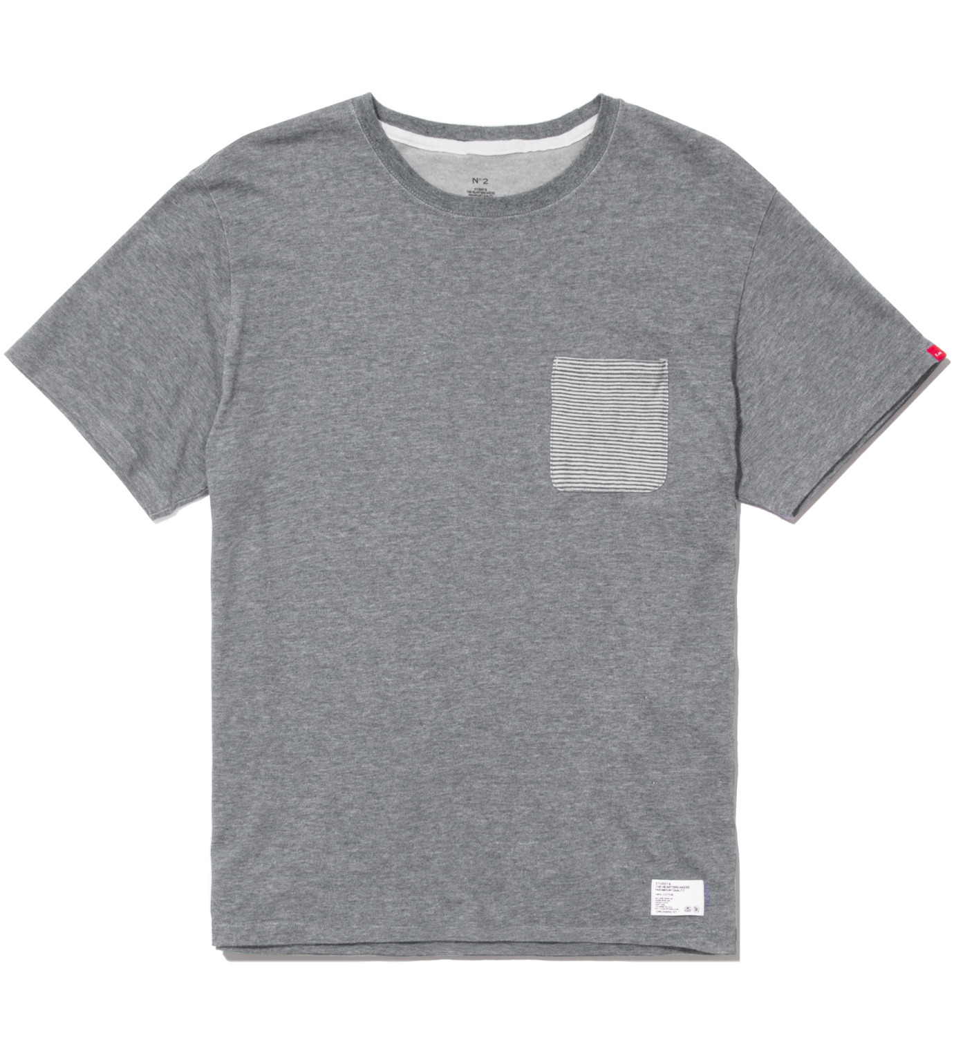 "BEDWIN & THE HEARTBREAKERS Stussy x The Heartbreakers A. Grey ""Lee"" Pocket T-Shirt"