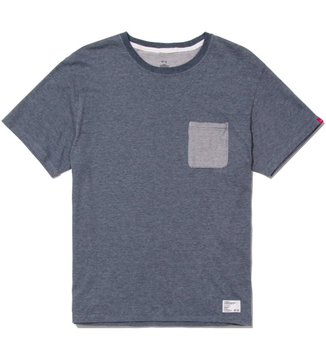 "BEDWIN & THE HEARTBREAKERS Stussy x The Heartbreakers Blue ""Lee"" Pocket T-Shirt"