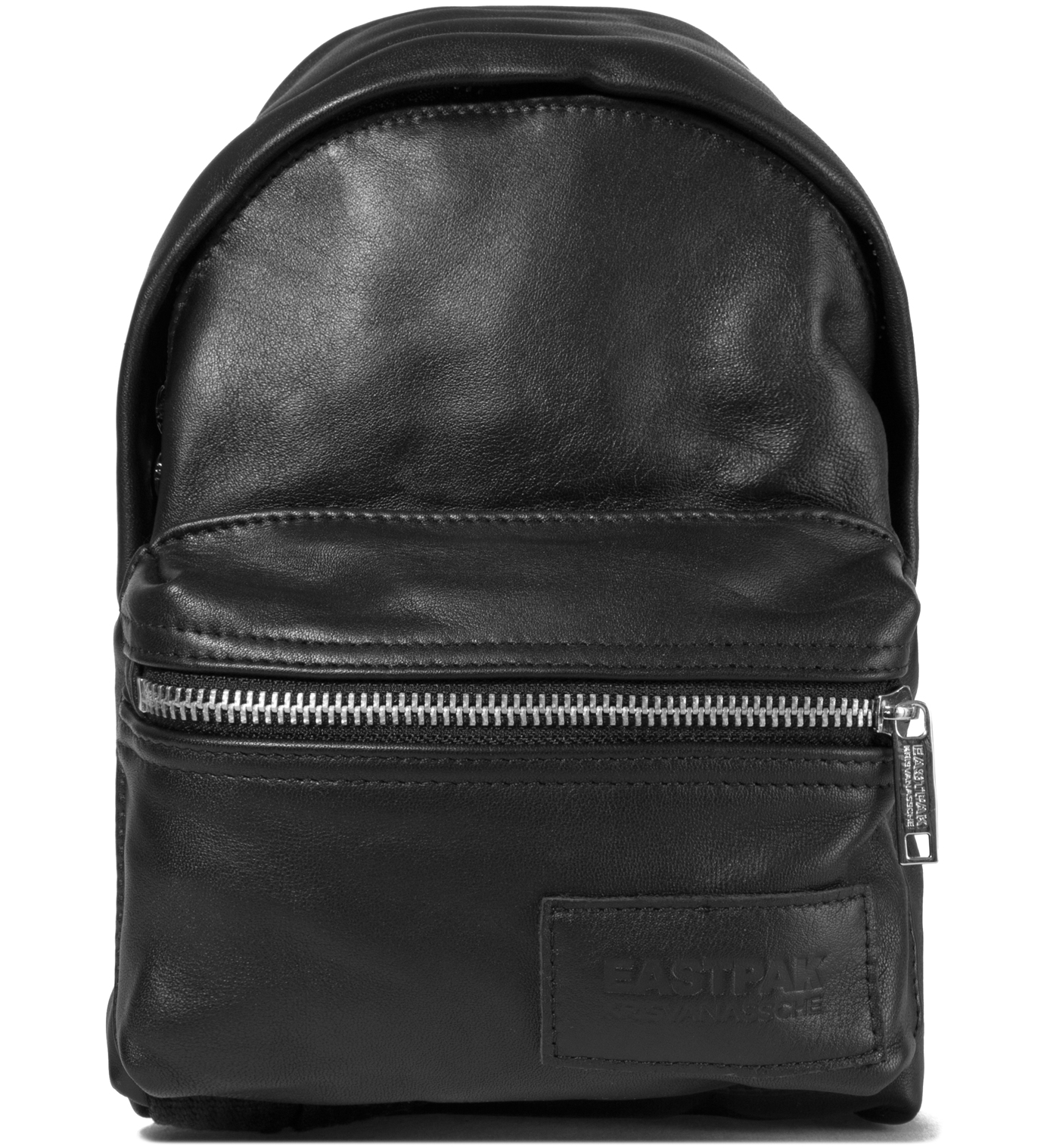 KRISVANASSCHE Eastpak KRISVANASSCHE Black Leather Mini Backpack Pouch