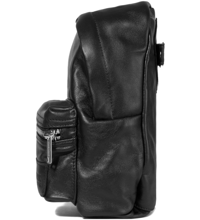 KRISVANASSCHE Eastpak KRISVANASSCHE Black Leather Mini Backpack Pouch