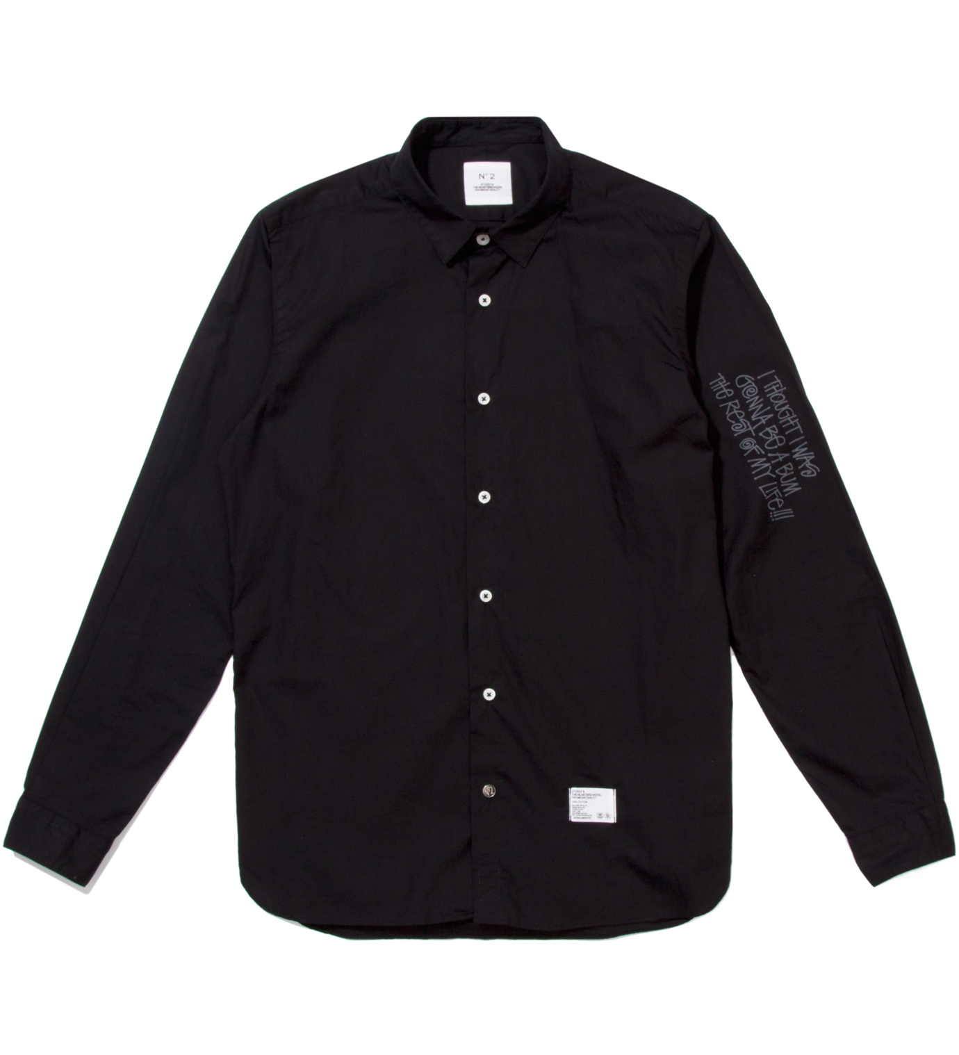"BEDWIN & THE HEARTBREAKERS Stussy x The Heartbreaker Black Graphic ""Jean- Michel"" Shirt"