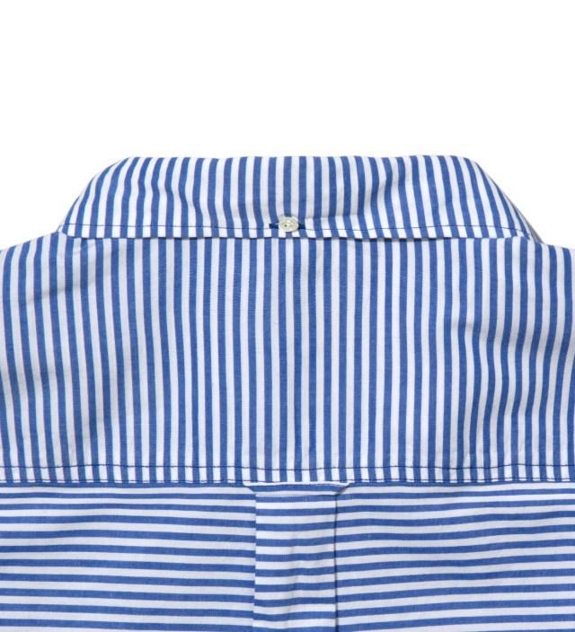 Head Porter Plus Blue Border Stripe Shirt