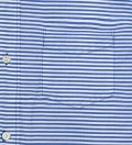 Head Porter Plus Blue Border Stripe Shirt