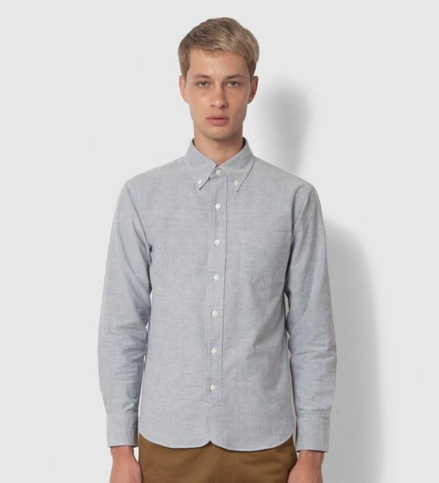 Head Porter Plus Grey Oxford Shirt