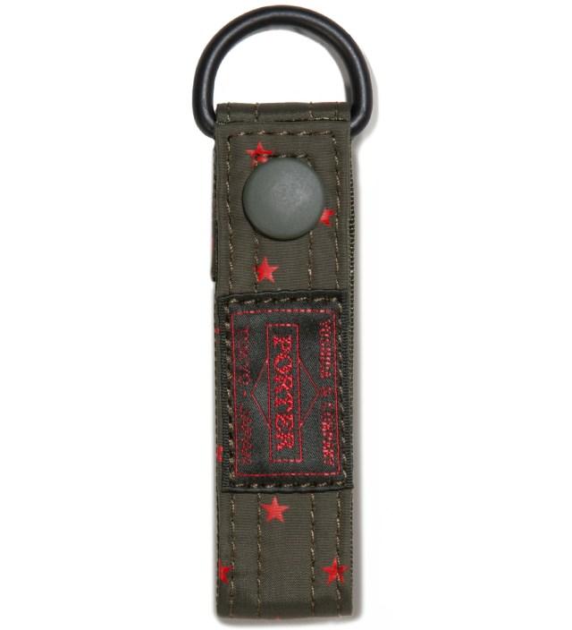 Head Porter Olive Stellar Key Ring