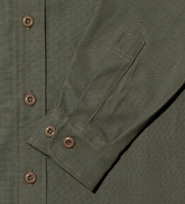 Tantum Tantum x Deadline Olive Drab Ripstop Long Sleeve Military Shirt