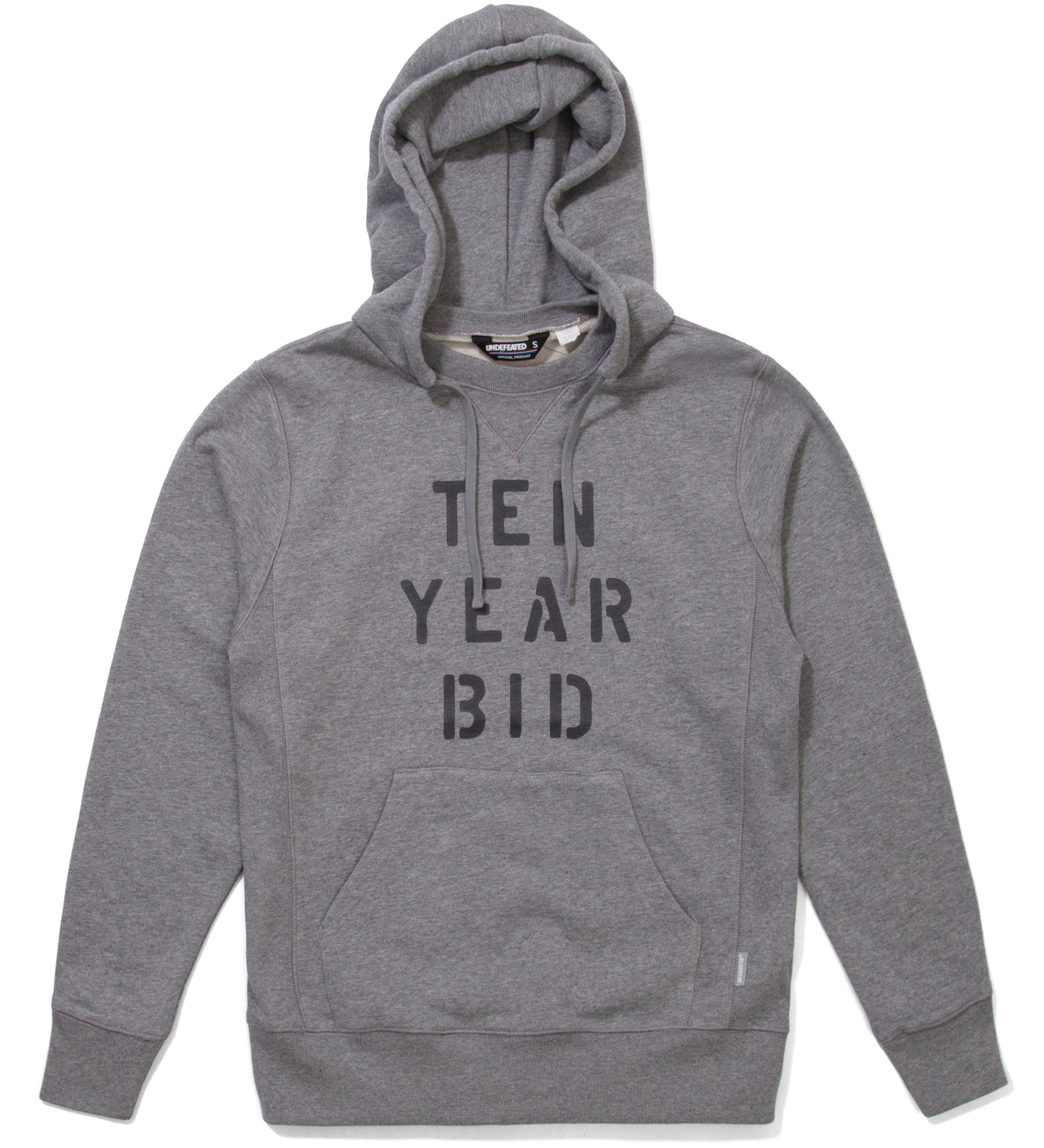 UNDEFEATED Heather Grey Hybrid Hoodie