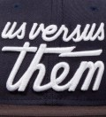 Us Versus Them Navy Magnum Snapback Ballcap
