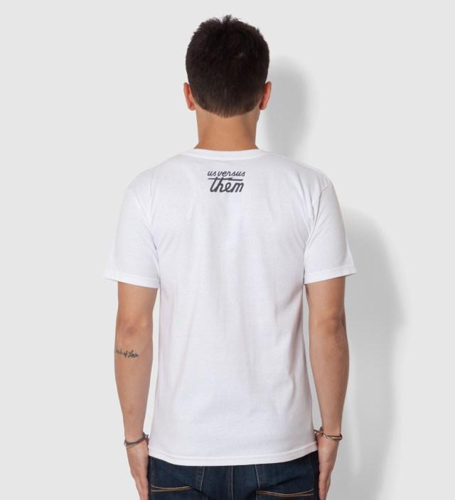 Us Versus Them White Chopper T-Shirt