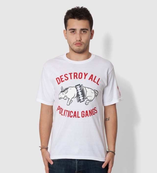 Us Versus Them White Gangland Elephant T-Shirt