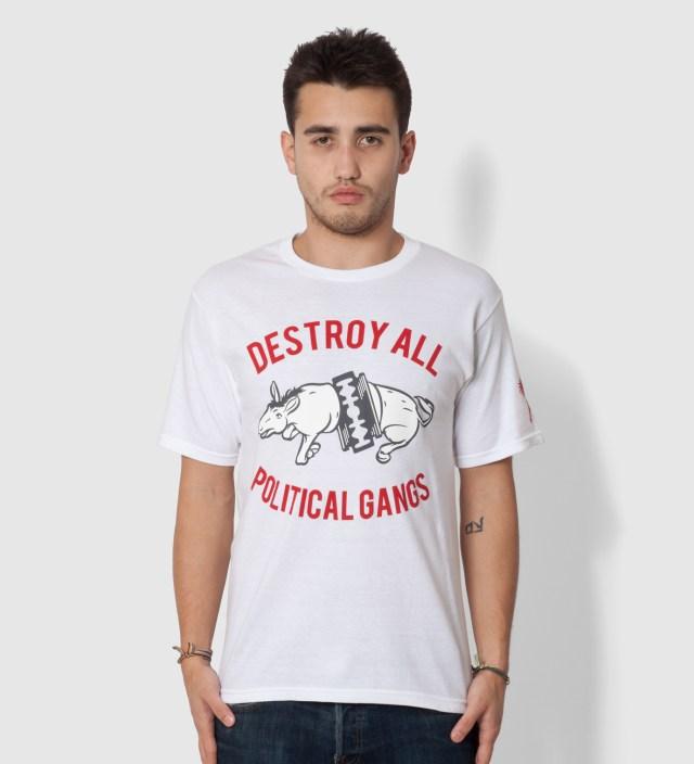 Us Versus Them White Gangland Elephant T-Shirt
