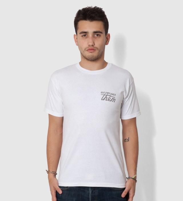 Us Versus Them White Awake and Aware T-Shirt