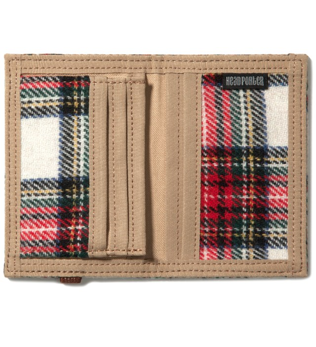 Head Porter Beige/White Band Card Case