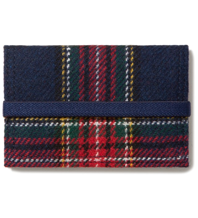 Head Porter Navy/Gray Band Card Case