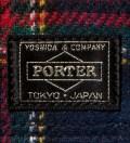 Head Porter Navy/Gray Band Card Case