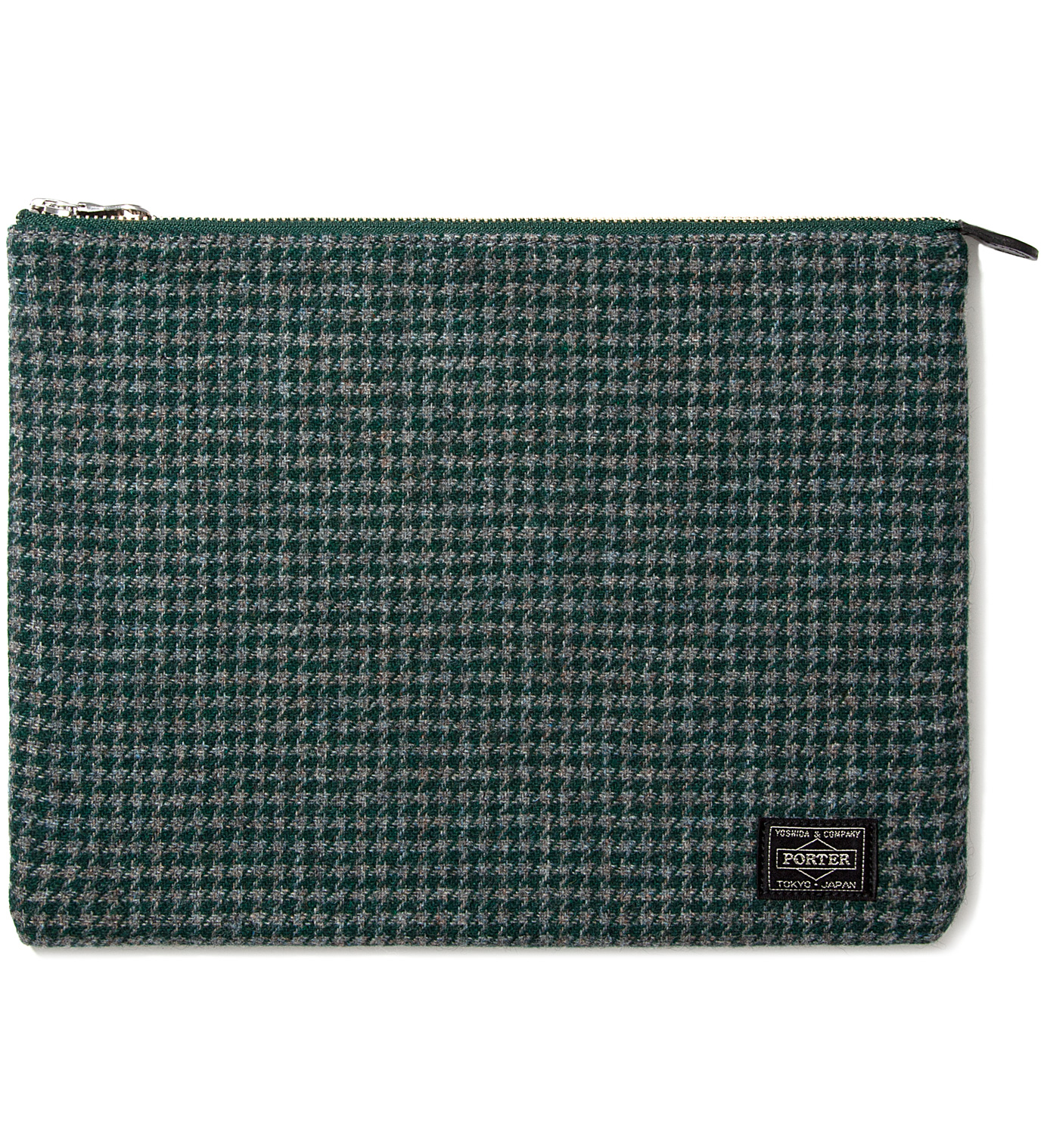 PHENOMENON Green Porter Pouch (Houndstooth Check)