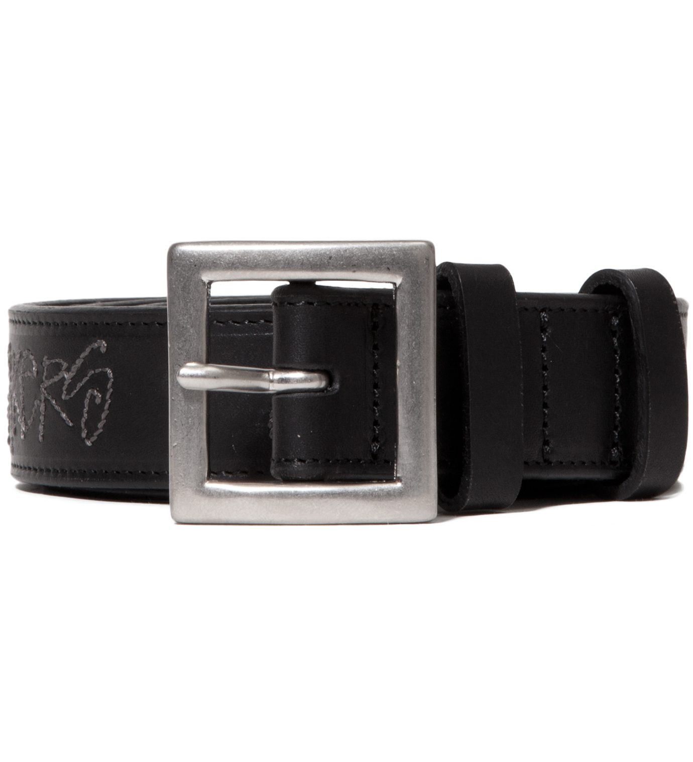 "BEDWIN & THE HEARTBREAKERS Stussy x The Heartbreakers Black ""Keith"" Leather belt"