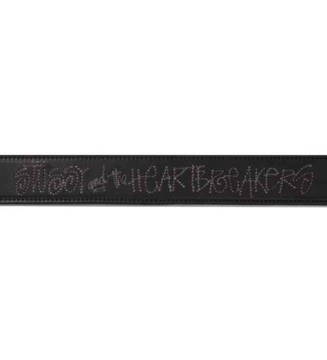 """BEDWIN & THE HEARTBREAKERS Stussy x The Heartbreakers Black """"Keith"""" Leather belt"""