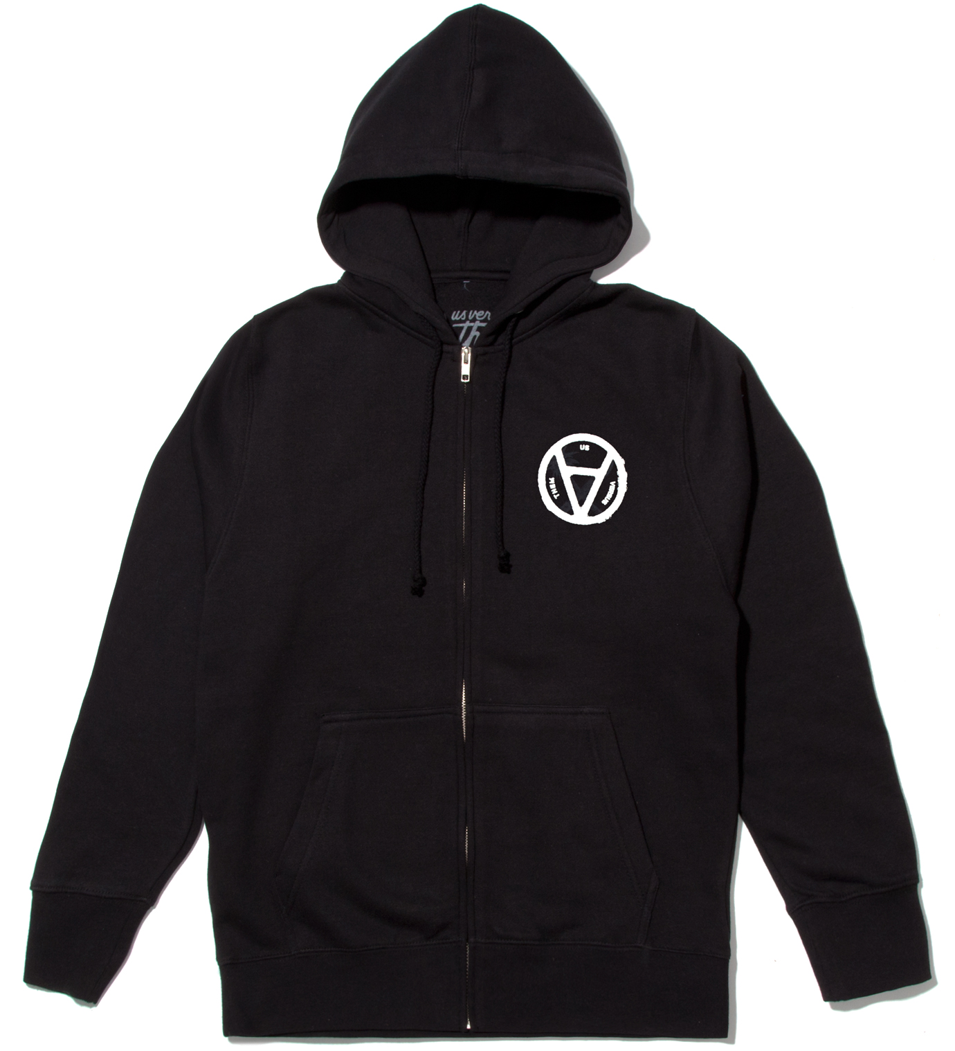 Us Versus Them Black V Anarchy Zip Up