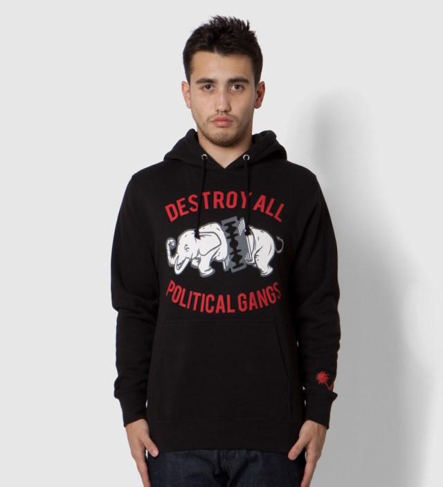 Us Versus Them Black Gangland Elephant Hoodie