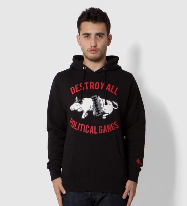 Us Versus Them Black Gangland Donkey Hoodie