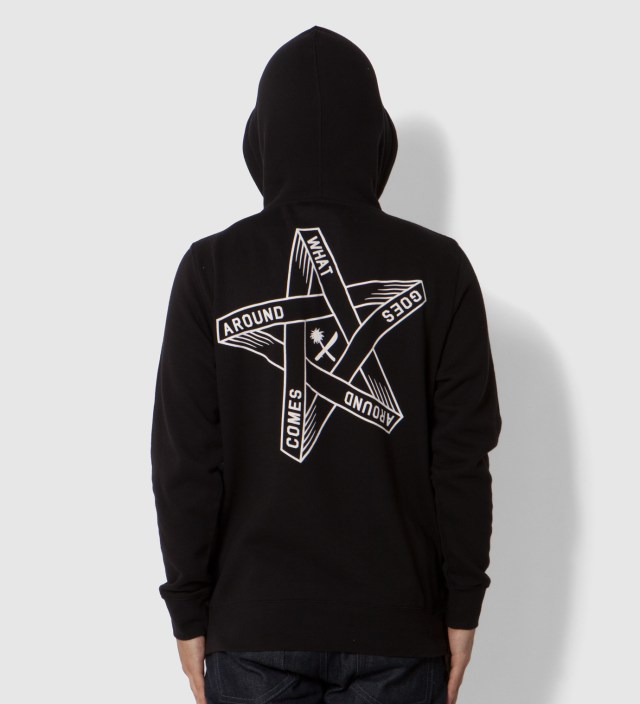 Us Versus Them Black Goes Around Hoodie