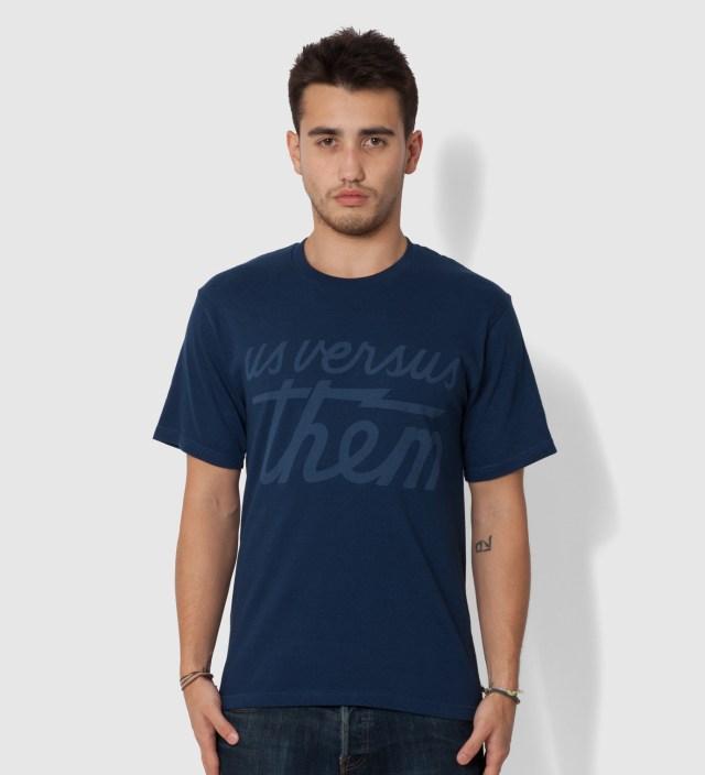 Us Versus Them Indigo Magnum Tonal T-Shirt