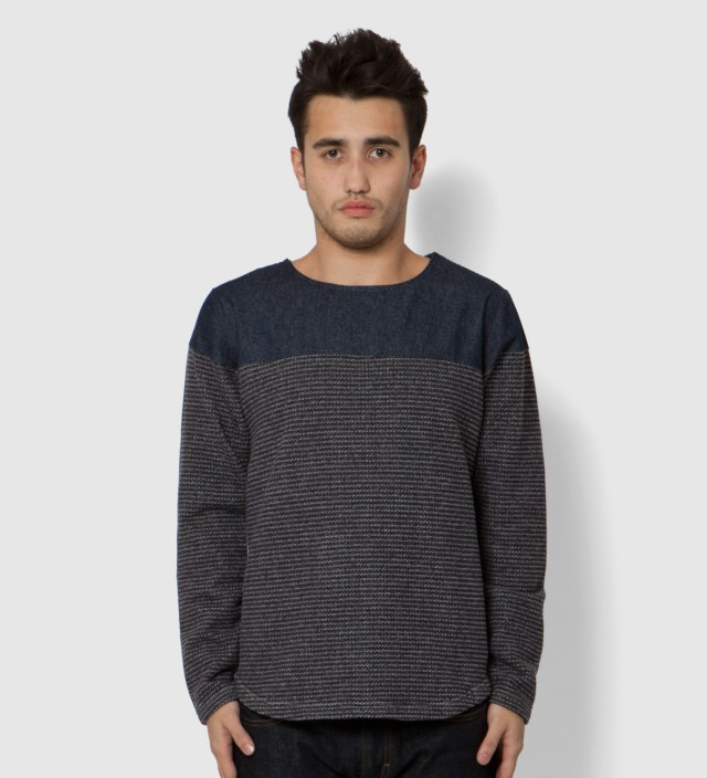 PHENOMENON Navy Denim Crewneck