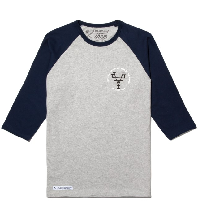 Us Versus Them Navy Branded Raglan
