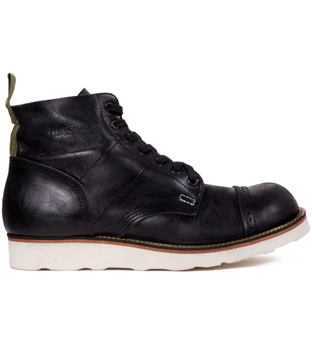 "BEDWIN & THE HEARTBREAKERS Stussy x The Heartbreaker Black ""Vincent"" Parachute Boots"