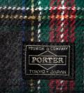 Head Porter Navy/Gray Lesson Wallet (S)