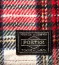 Head Porter Beige/White Lesson Wallet (S)