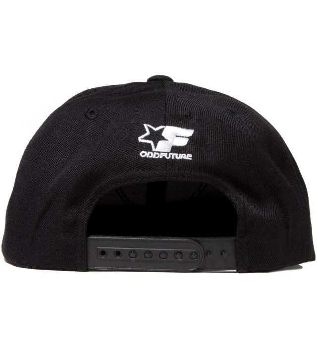 Odd Future Black OF Donut Snapback Cap
