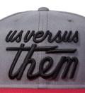 Us Versus Them Charcoal Magnum Snapback Ballcap