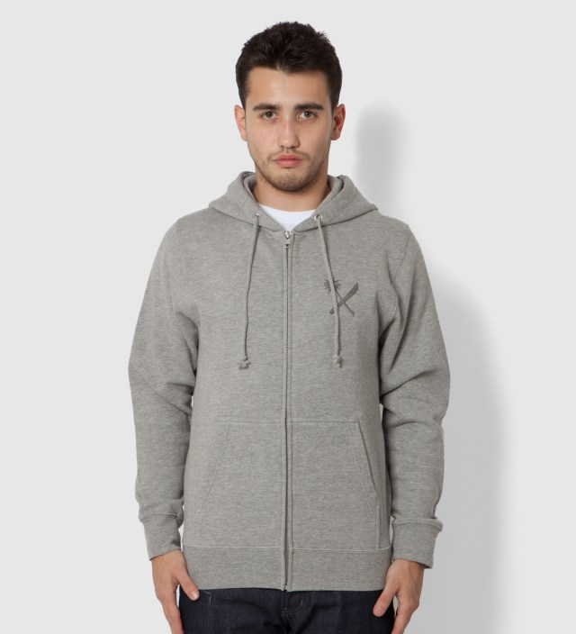 Us Versus Them Heather Grey Magnum Tonal Zip Up